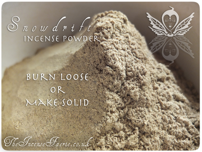 Snowdrift Powder - burn loose or make solid